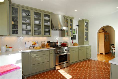 Spanish Style Kitchen Cabinets by Green Spanish Style Kitchen