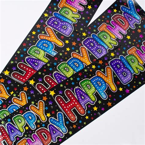 Wedding Banners At Card Factory by Holographic Black Happy Birthday Banners Only 99p