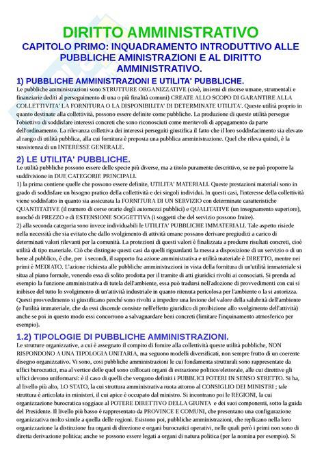 dispensa di diritto amministrativo concetti e nozioni appunti di diritto amministrativo