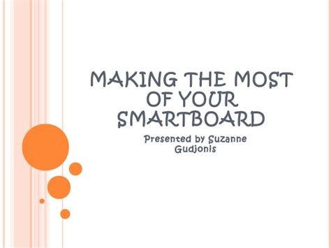 Making the most of your smartboard