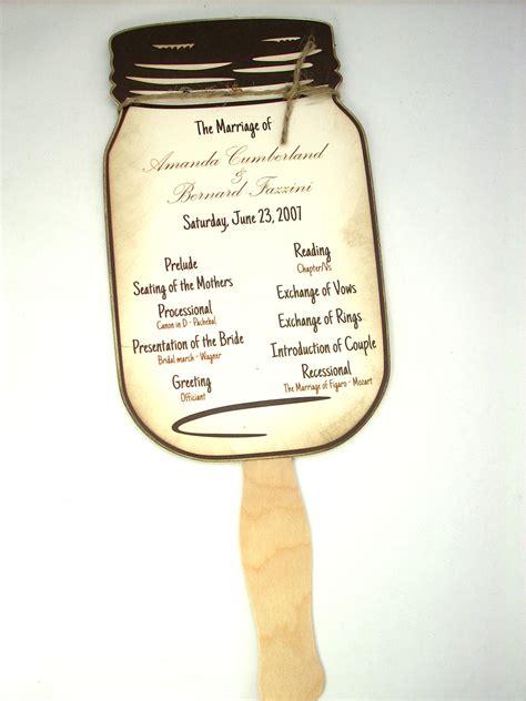 Jar Wedding Program Templates Chandeliers Pendant Lights