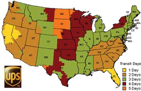 usa map ups creamright company shipping info