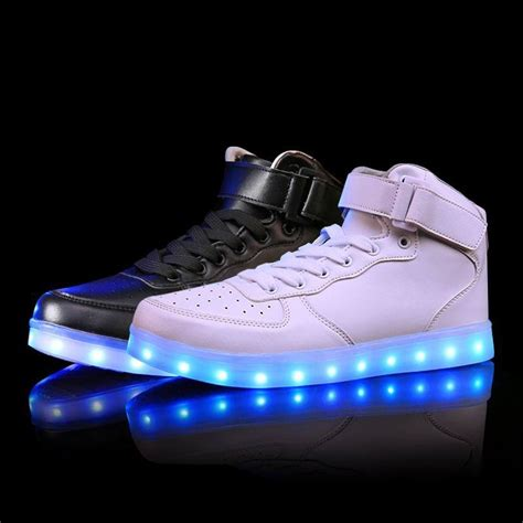 2016 Lights Up Led Luminous Shoes High Top Glowing