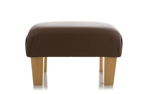 Ottoman Footstool New Leather Footstool Black Brown Ottoman Foot Rest Small Stool Ebay