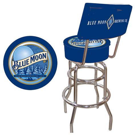 blue moon 174 padded bar stool with back 281480 at