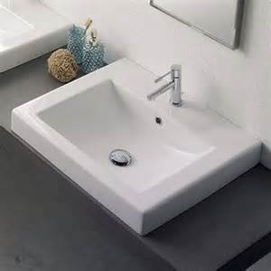 white sinks bathroom shop nameeks scarabeo white vessel rectangular bathroom