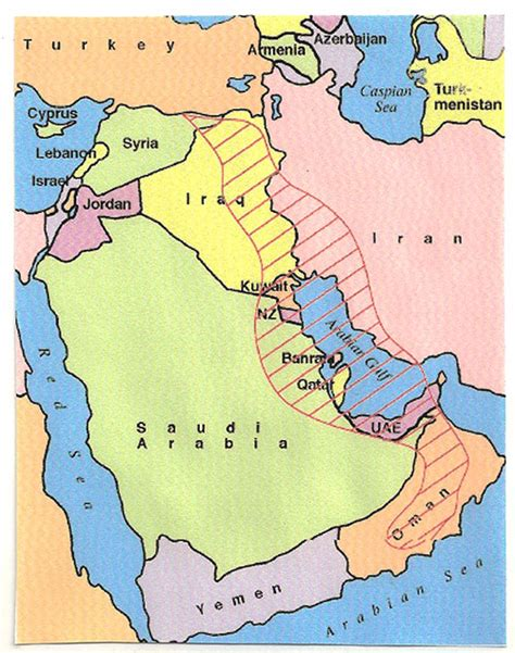 middle east map fields 1962