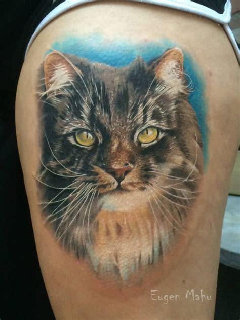 tattoo cat realistic eugen mahu certified artist