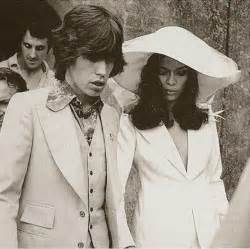 bianca jagger and mick jagger wedding queens of vintage