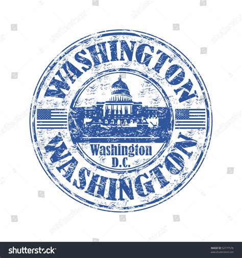 capital rubber st blue grunge rubber st name washington stock vector