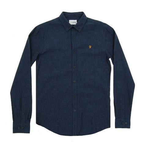 farah steen shirt marine mens shirts from attic clothing uk