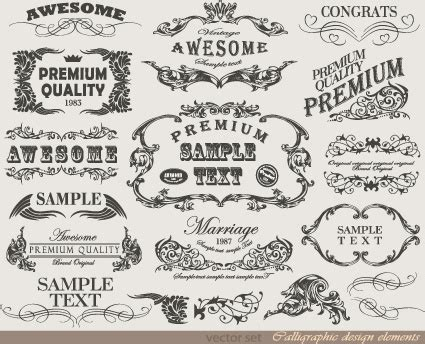 retro design elements free art jimdo free calligraphy designs free vector download 1 360 free
