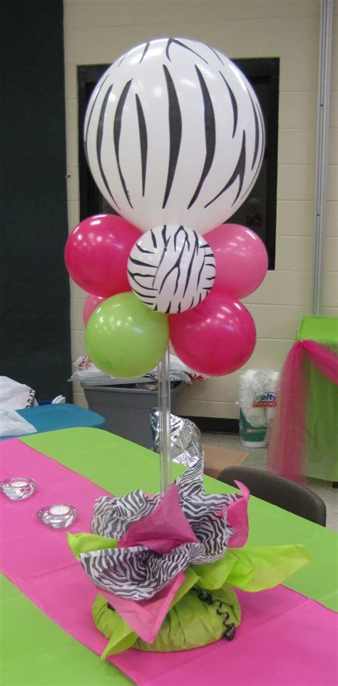 Party People Event Decorating Company Zebra Hot Pink And Zebra Centerpieces For Tables