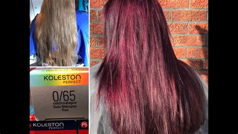 the violet hair makeover permanent violet mahogany hair colour makeover youtube