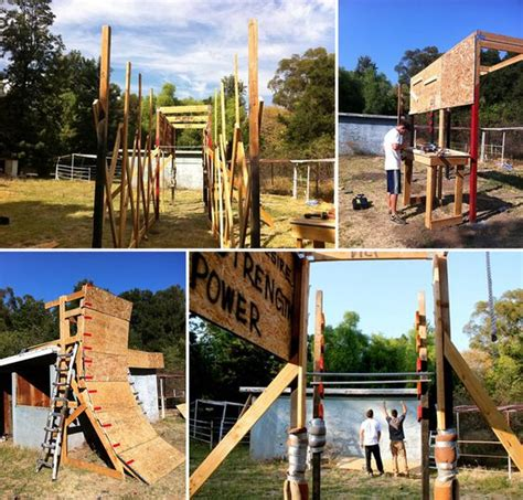 obstacle course in backyard the build it your self obstacle course its like a giant
