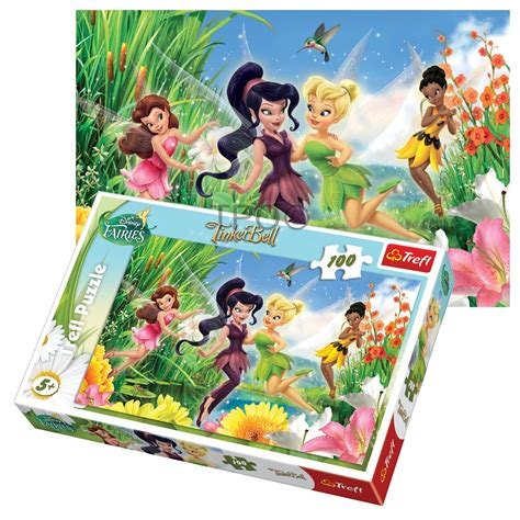 Best Terlaris Puzzle Jigsaw Frozen 100 Pcs Sni trefl 100 disney tinkerbell cheerful