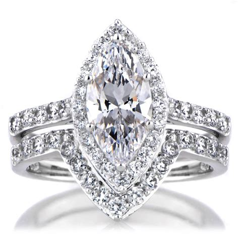 marquise wedding ring set 2018 popular marquise engagement rings settings