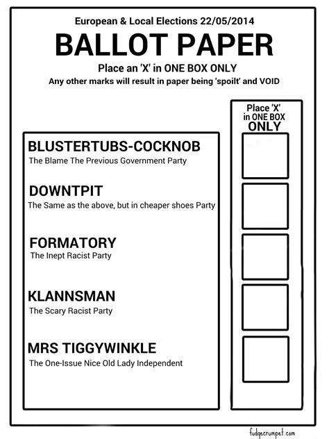 euro ballot paper revealed the poke