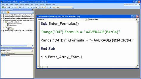 excel 2010 array formula tutorial refresh array formula excel vba the many ways to refresh