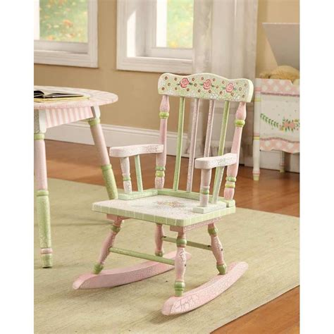 Shabby chic floral rocking chair