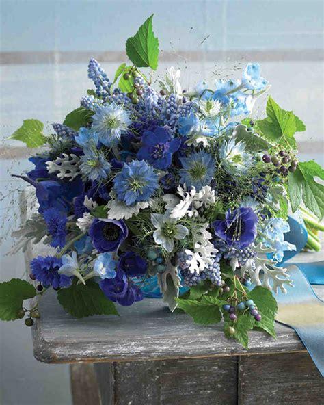 Blue Wedding Bouquets by Blue Wedding Bouquets Martha Stewart Weddings