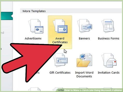 design a certificate using word how to make a certificate using microsoft publisher 4 steps
