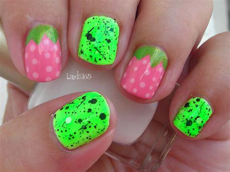 decoracion de unas cortas nail art sour strawberries short nails decoracion de