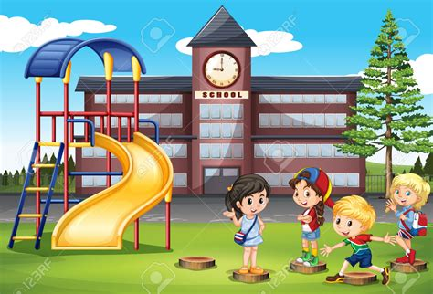 playground clip place clipart school playground pencil and in color