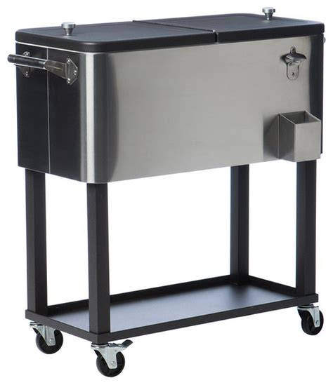 Steel Beverage Cooler With Shelf stainless steel cooler with shelf contemporary coolers and chests by