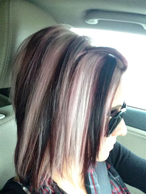 what is hair chunking fabulous fall colors red magenta and platinum blonde