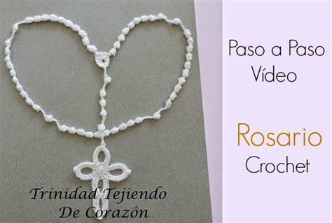 como hacer rosarios para recuerdos de bautizo o primera comuni 243 n como hacer un rosario de crochet tutorial patrones crochet recuerdos para bautizo