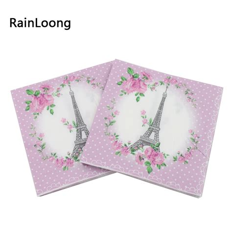 Tissue Paper For Decoupage - rainloong 33cm 33cm eiffel tower paper napkins festive