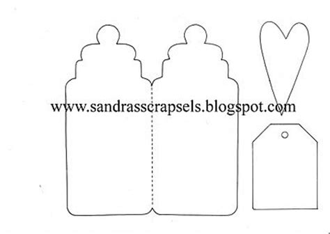 Baby Bottle Template Card by Baby Bottle Template Cards