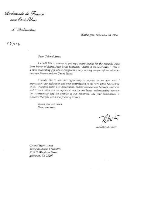 Lettre De Demande De Visa A L Ambassadeur Reims Arlington Comit 233 De Jumelage