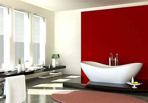 red wall bathroom how to decorate with shades of red