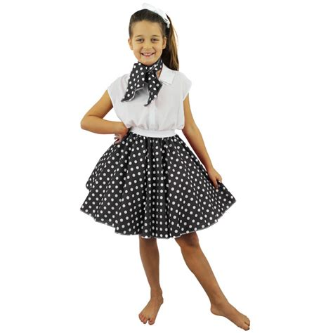 Rok Satin By Scarf childs polka dot skirt neck scarf