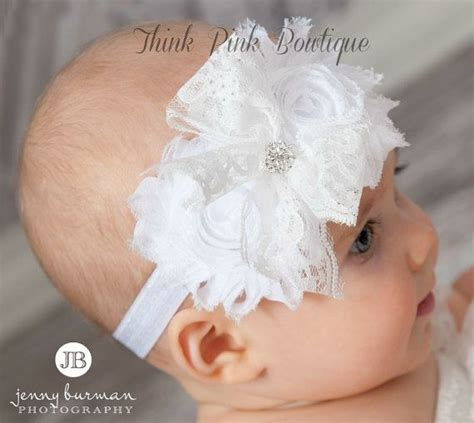white headbandpink baby headbandchristening by thinkpinkbows 604 best images about baptism ideas on