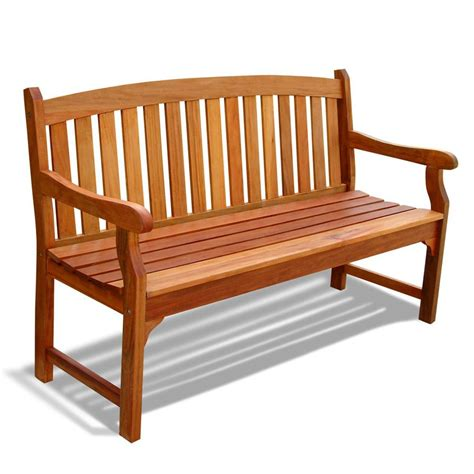 patio wooden bench shop vifah marley 25 in w x 60 in l eucalyptus patio bench