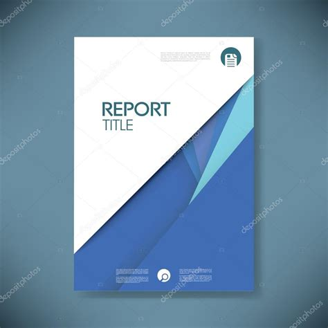 Annual Report Cover Template Annual Report Cover Template On Material Design Style