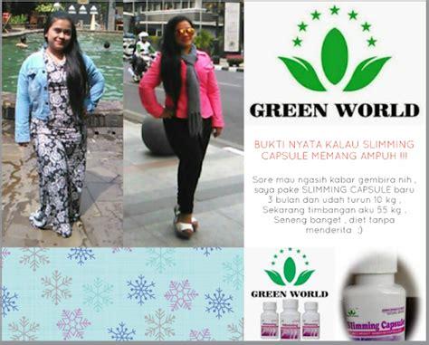 Pelangsing Green World obat pelangsing slimming capsule original di toko acep