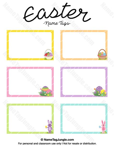 Easter Place Card Template by Free Printable Easter Name Tags The Template Name Tags