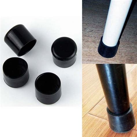 Chair Leg Caps by Aliexpress Buy 4pcs Set Black 22mm Chair Leg Caps