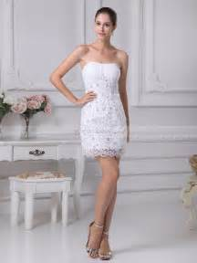 mini wedding dresses beaded applique featured sheath mini wedding dress with