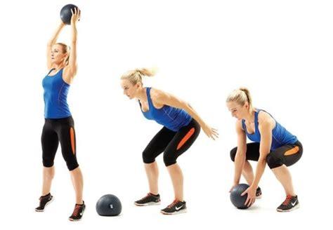 medicine ball swings killer cardio total body tabata workout peanut butter