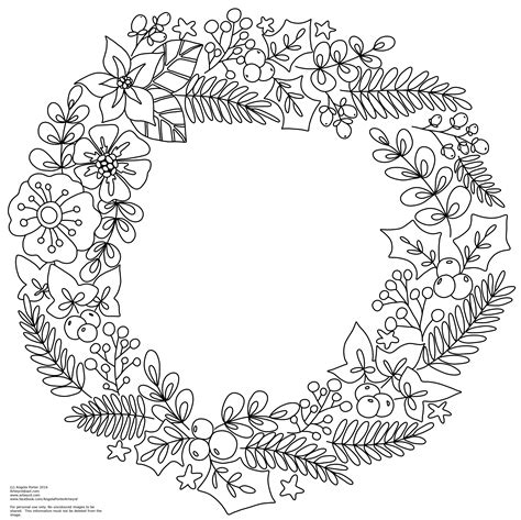 coloring book page wreath winter christmas wreath colouring pages angela porter