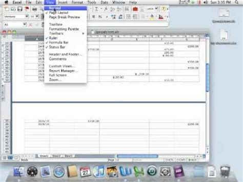 layout excel mac how to use normal view and page layout view in microsoft