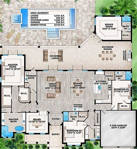 house plans with detached in suite 25 best ideas about walk in pool on