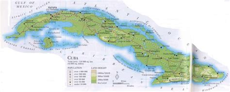 physical map of cuba cuba physical features