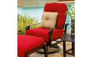Outdoor Furniture Cushions Large Woodard Cortland Large Swivel Club Rocker