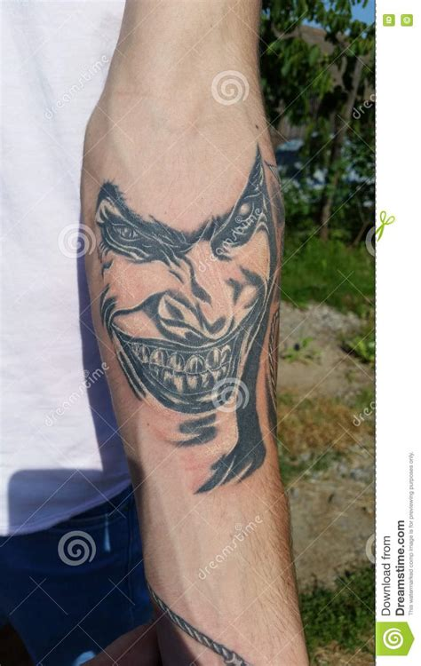 simple joker tattoo joker tattoo editorial stock image image 72527014